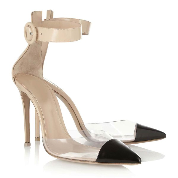 Women's Champagne Real Leather Pumps with Buckle #Favs03030316