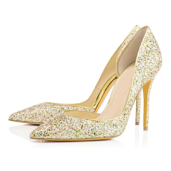 Women's Multi-color Sparkling Glitter Pumps with Sequin #Favs03030317
