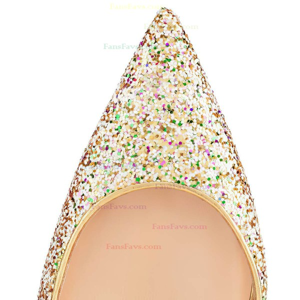 Women's Multi-color Sparkling Glitter Pumps with Sequin