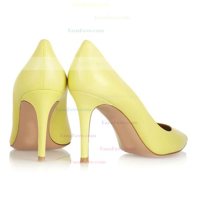 Women's Yellow Patent Leather Pumps #Favs03030318