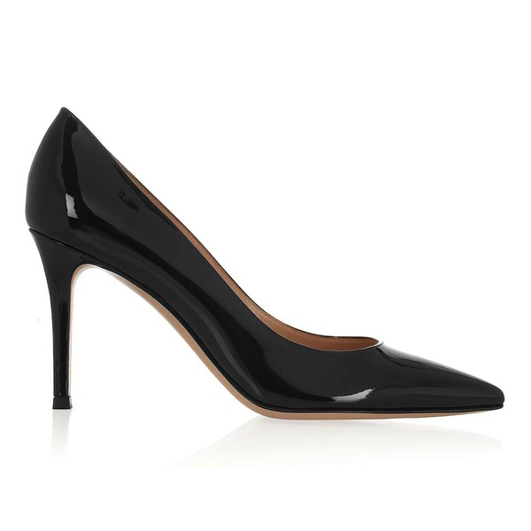 Women's Black Patent Leather Closed Toe #Favs03030319