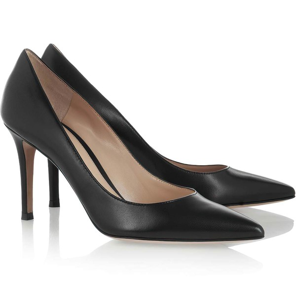 Women's Black Real Leather Pumps #Favs03030320