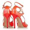 Women's Orange Patent Leather Pumps with Buckle #Favs03030338
