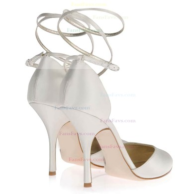 Women's White Satin Pumps with Buckle #Favs03030349