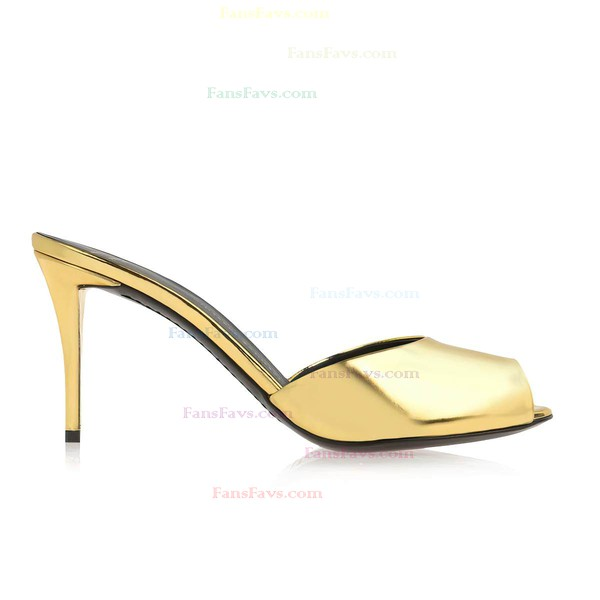 Women's Gold Patent Leather Pumps