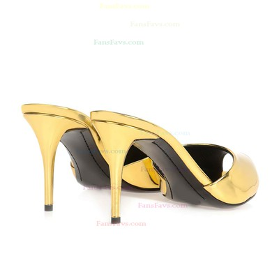 Women's Gold Patent Leather Pumps #Favs03030350